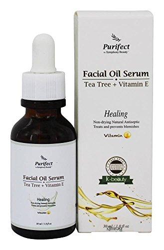 - Purifect by Symphony Beauty 100% Natural Facial Oil Serum - Tea Tree & Vitamin E, 30ml