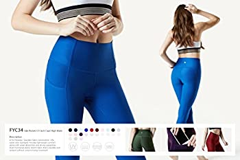 "Tm-fyc34-blk_medium Tesla Yoga 21""capri High-waist Pants W Side Pockets Fyc34 6"