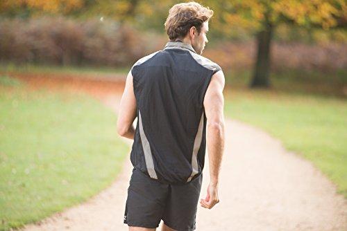 Proviz Men's Reflect360 Running Vest, Silver, Large