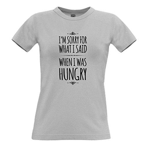 Tim and Ted Mi dispiace per quello che ho detto quando ho avuto fame, Stampa Slogan design T-Shirt Da Donna