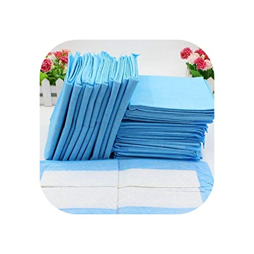 5/10/20Pcs/Set Pet Cat Dog Bed Diapers Absorbent Mat Indoor Toilet Training Pad Cushion for Small Large Pets,Blue,20 Pcs