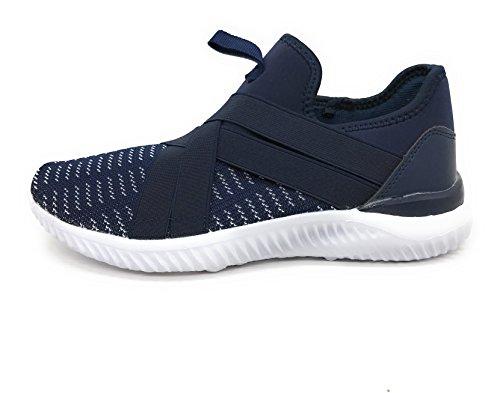 Blaue Berry EASY21 Frauen-beiläufige Art- und Weiseturnschuhe Breathable athletische Sport-leichte Schuhe Marine / Weiß / Weiß