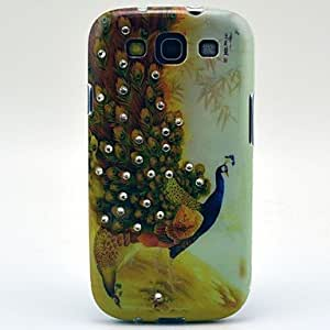 TOPMM New Arrival Proud Peacock Pattern Hard Case with Rhinestone for Samsung Galaxy S3 I9300