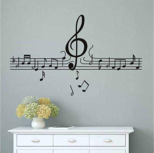 hwhz 58 X 99 cm DIY Musical Notes Wall Stickers for Kids Rooms Music Rooms Decorations Self Adhesive Wall Decals Art Vinyl Posters Home Decor ()