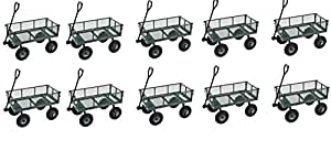 """Sandusky Lee CW3418 Muscle Carts Steel Utility Garden Wagon, 400 lb. Load Capacity, 21-3/4"""" Height x 34"""" Length x 18"""" Width (Pack of 10)"""