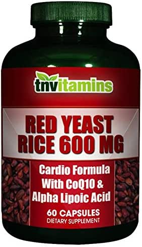 Red Yeast Rice Plus Alpha Lipoic & CoQ10 by TNVitamins 60 Capsules