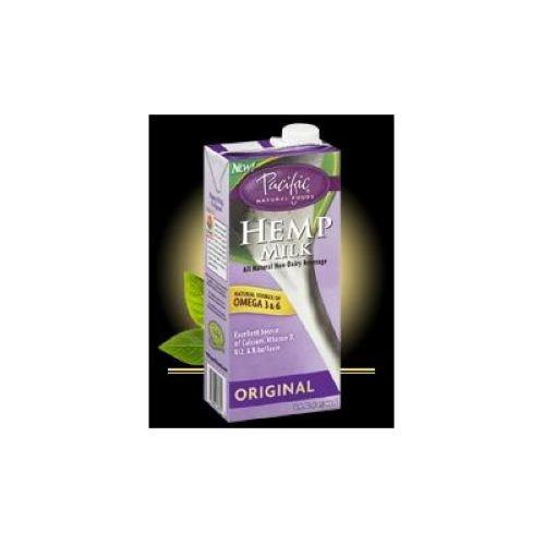 Pacific Foods Original Hemp Milk Non Dairy Beverage, 32 Fluid Ounce - 12 per case by Pacific Foods