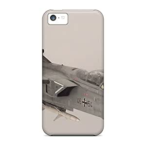 Rugged Skin Cases Covers For Iphone 5c- Eco-friendly Packaging(jet Plane In The Fog)