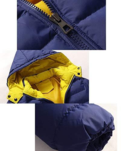 Packable Down Coat Quilted Jacket Thick Long Coat Winter Deepblue Down Fashion Men's Ultralight Hooded Sleeve Alternative Warm Brands Outwear twCqOwZI