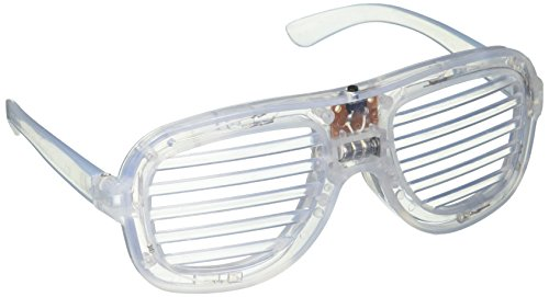 LED Rave-Eyes™ Flashing Lights Crystal Shutter Glasses Slotted Sunglasses Great for Raves or Parties - High Quality