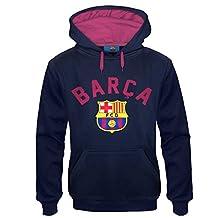 FC Barcelona Official Soccer Gift Mens Graphic Fleece Hoody Medium