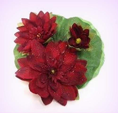 Wholesale Water Lilies - Inna-Wholesale Art Crafts New Large Floating Silk Water Lily Burgundy Wine Lilies Centerpiece Decorating Flowers - Perfect for Any Wedding, Special Occasion or Home Office D?cor