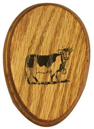AllAmishFurniture Amish Towel COW Magic Marble Holder Oak hardwood ()