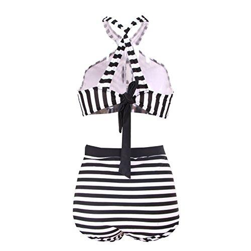 High Waisted Floral Bikini Zebra Ladies Plus Size Swimwear-KJX005-ZB4
