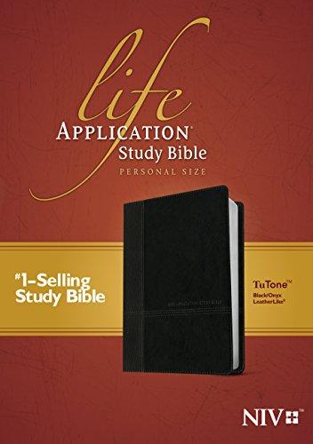 NIV Life Application Study Bible, Second Edition, Personal Size, TuTone (LeatherLike, Black/Onyx)