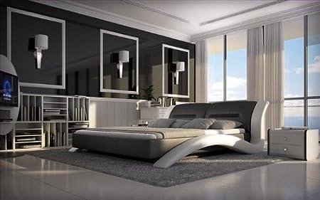Kasper Wohndesign Anessi Luxury Bed 180 X 200 Cm Black White Amazon
