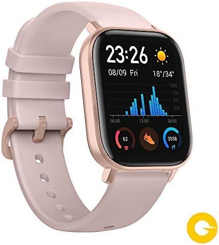 Amazfit GTS Reloj Smartwactch Deportivo   14 días Batería   GPS+Glonass   Sensor Seguimiento Biológico BioTracker™ PPG   Frecuencia Cardíaca   Natación   Bluetooth 5.0 (iOS & Android) Rose-Gold