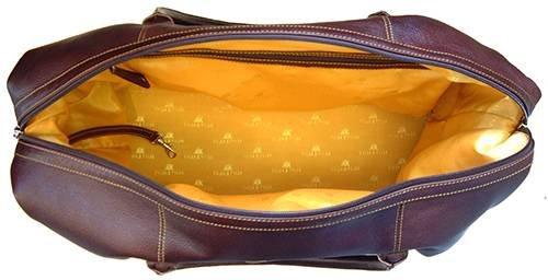 Dunkelbraun Italienisch ausblenden Leder Sparring Hares Weekender Bag von Tyler and Tyler