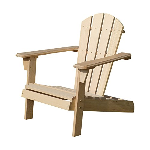 Merry Garden Kids Foldable Wooden Adirondack Chair, Children's Outdoor Patio Furniture, Garden, Lawn, Deck Chair, Unfinished