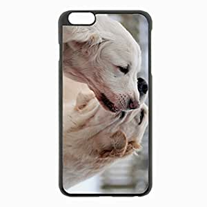 iPhone 6 Plus Black Hardshell Case 5.5inch - dog couple caring tenderness Desin Images Protector Back Cover