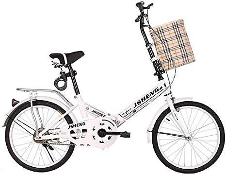 WYMF - Bicicleta plegable portátil para adultos y mujeres, tamaño ...