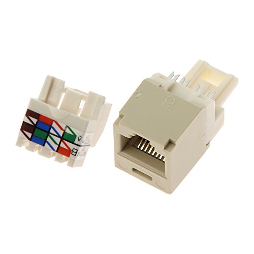Panduit CJ688TPEI Category-6 8-Wire TP-Style Jack Module, Electric Ivory, 4-Pair