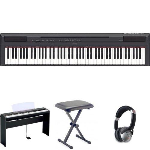 Yamaha P115 Digital Piano - Black Bundle
