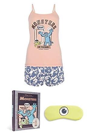 Pyjama Monster Masque Femmes Short Disney Tailles Caracoamp; Avec Yeux 80knwOP