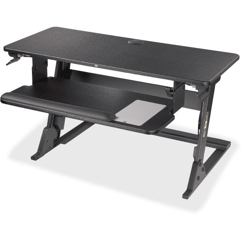 Precision Standing Desk, Convert Desk to Sit Stand Desk, Fully Assembled, Provides Maximum Adjustability to Achieve Your Most Comfortable Standing Work Position, Gel Wrist Rest, Mouse Pad - 3M SD60B
