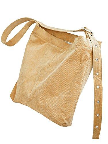 Coafit Bolso Crossbody Bolso de Hombro para Mujer Pana Ajustable Correa Bolsa de Mensajero Ginger