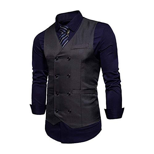 Pour Gilet Baomwool 2 Business Leisure Hommes Retro Tuxedo Grau Costume De Slim Fit Modern Gilets Mariage dxAnZYzd