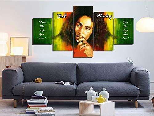 (kkxdp Frameless Hd Prints 5 Pieces Wailing Wailers Reggae Originator Bob Marley Homes Wall Decors Canvas Pictures Art On Canvas Artworks)