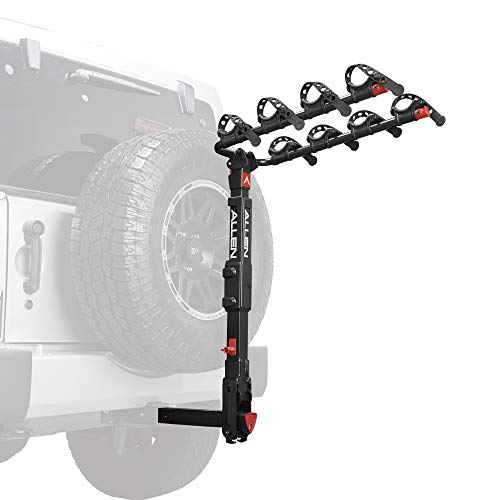 Release Tire Quick Bike - Premier Locking Quick Release 4-Bike Carrier for 2 in. Hitch on Vehicles with Spare tire