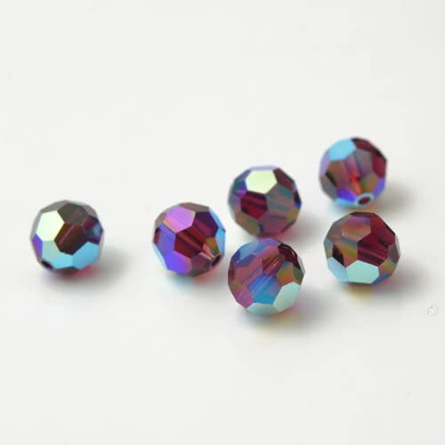 6 pcs Swarovski Element Model 5000 10mm Faceted Crystal Round Ball Beads Jonquil