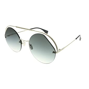 9d59ccb2107 Amazon.com  Fendi Ribbons   Crystals FF 0325 S Silver Grey Shaded 56 23 140  Women Sunglasses  Watches