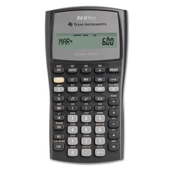 Texas Instruments BAIIPlus Financial Calculator, 10-Digit LCD (10 Bii Calculator)