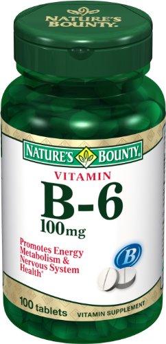 Bounty Nature de la vitamine B6, 100 mg, 100 comprimés (lot de 4)