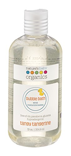 Nature's Baby Organics Moisturizing Bubble Bath, Tangy Tangerine, 12 oz. | Babies, Kids, & Adults! Natural, Gentle, Soft, Rich, Hypoallergenic | No Synthetic Chemicals, Parabens, SLS, or Glutens