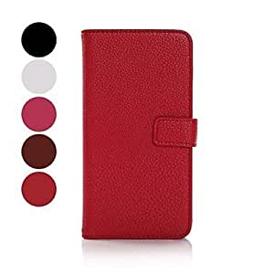 LHY Lichi Leather Flip Stand Case Wallet Cover for Samsung Galaxy S5 i9600 , Black