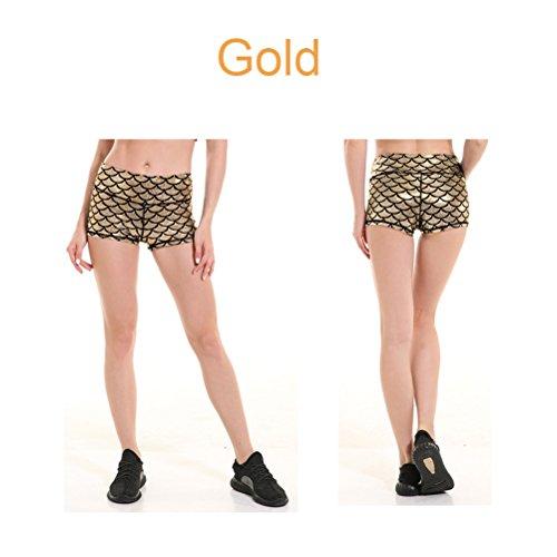 Scale Lingerie Slim Riassunti donne Alto Mini Danza Sexy Shorts Fit Mermaid Panty Oro Donne Elastico Pantaloncini Model Shorts Vita Alta Clubwear SIqxd1A
