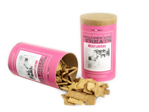 Polka Dog Bakery Meat Lovers Can, Wheat-Free, Corn-Free, Soy-Free Dog Treats, 12oz, My Pet Supplies
