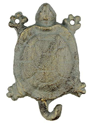 (Deleon Collection Decorative Cast Iron Turtle Wall Hook - Rustic Bronze Verdigris Finish)