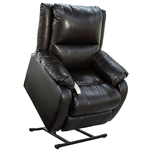 Mega Motion Windermere NM-2650 Three Position Chaise Lounger with Heat + Massage (Black)