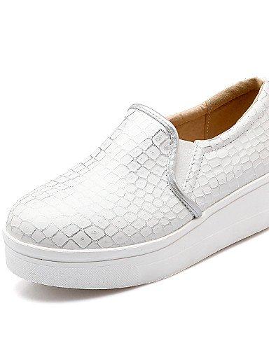 ZQ Zapatos de mujer - Plataforma - Creepers / Punta Redonda - Planos / Mocasines - Oficina y Trabajo / Vestido / Casual - Semicuero -Azul / , pink-us8 / eu39 / uk6 / cn39 , pink-us8 / eu39 / uk6 / cn3 blue-us7.5 / eu38 / uk5.5 / cn38