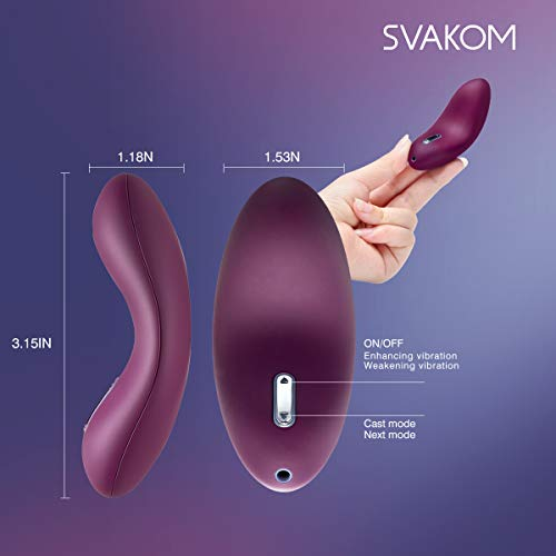 SVAKOM Echo Adult Sex Toys Vagina and Clitoris Vibrating Vibrators Mini Rechargeable Luxury Women Clitorial Vibes Stimulation Masturbation Sexual Wellness for Women(Violet) by SVAKOM (Image #5)'