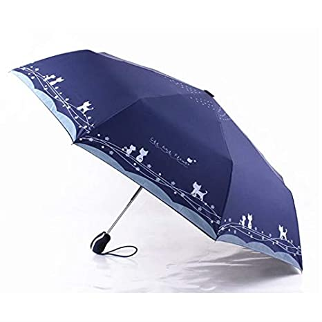 Amazon.com: Autumn Water Windproof Cute Cat Automatic Sun Umbrella Women Parasol Lady Paraguas Plegable para Autos Mujer Guarda Sol Parapluie Automatique: ...