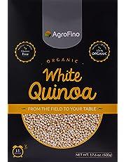 حبوب كينوا بيضاء عضوية خالية من الغلوتين من اجروفينو، 500 غرام (بيج)