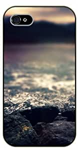 iPhone 4 / 4s Blur water rocks - black plastic case / Nature, Animals, Places Series by icecream design