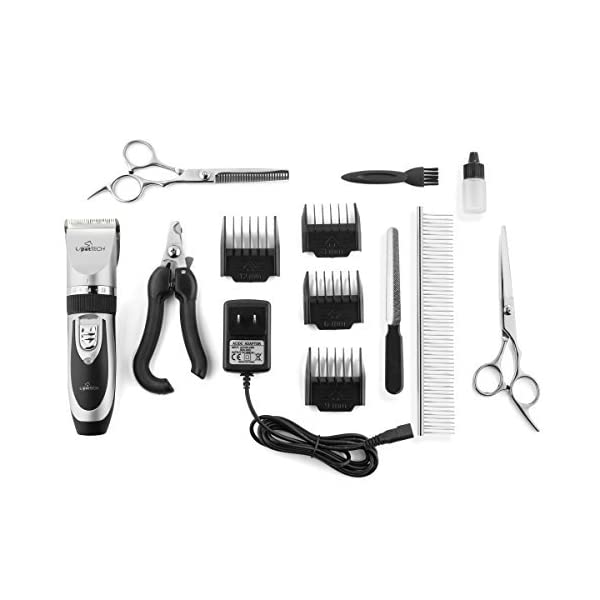 Pet Union Professional Dog Grooming Kit - Rechargeable, Cordless Pet Grooming Clippers & Complete Set of Dog Grooming Tools. Low Noise & Suitable for Dogs, Cats and Other Pets 3
