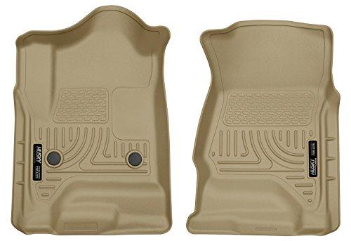 4 Tan Door Front Floor (Husky Liners Front Floor Liners Fits 14-18 Silverado/Sierra 1500 Crew/Double)